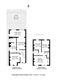Large floorplan for Stanton Road, Raynes Park, SW20