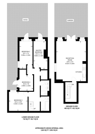 Large floorplan for Mitcham Road, Tooting, SW17