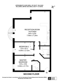 Large floorplan for Meridian Place, Canary Wharf, E14