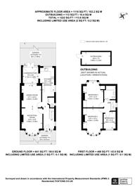 Large floorplan for Monks Park, Wembley, HA9