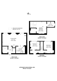 Large floorplan for Este Road, Clapham Junction, SW11