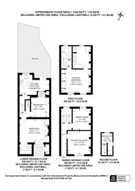 Large floorplan for Graham Terrace, Belgravia, SW1W