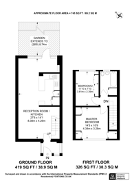 Large floorplan for Tarrington Close, Streatham Hill, SW16