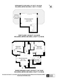 Large floorplan for Cleveland Gardens, Bayswater, W2