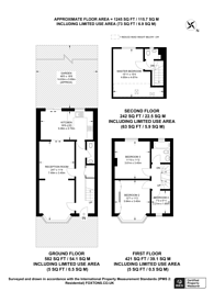 Large floorplan for Cobham Avenue, Motspur Park, KT3