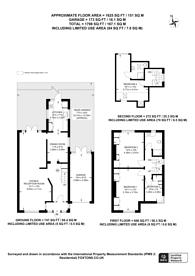 Large floorplan for Kingsway, Wembley Park, HA9