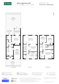 Large floorplan for White Lodge Close, Isleworth, TW7