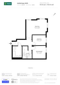 Large floorplan for Suffolk Road, South Norwood, SE25