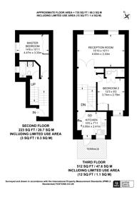 Large floorplan for Dawes Road, Fulham Broadway, SW6
