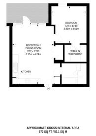 Large floorplan for Argo Apartments, Canning Town, E16