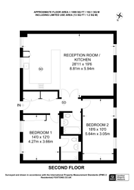 Large floorplan for Kingsgate Place, NW6, West Hampstead, NW6
