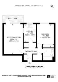 Large floorplan for Beddington Gardens, Wallington, SM6
