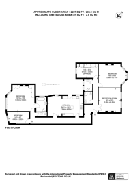 Large floorplan for Dunrobin Court, Hampstead, NW3