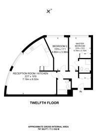 Large floorplan for Rick Roberts Way, Stratford, E15
