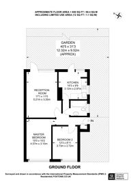 Large floorplan for Beverley Road, Hampton Wick, KT1