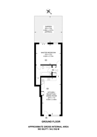 Large floorplan for Merton Road, Wandsworth, SW18