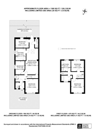 Large floorplan for St Heliers Avenue, Hounslow, TW3