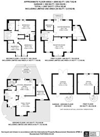 Large floorplan for Melliss Avenue, Kew, TW9