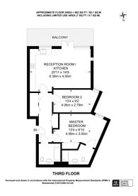 Large floorplan for Stead Street, Elephant and Castle, SE17