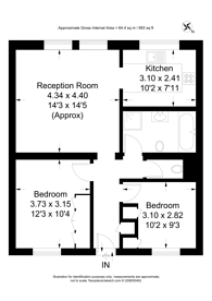 Large floorplan for Fulham Road, South Kensington, SW3