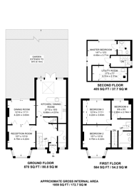 Large floorplan for Woodlands, Golders Green, NW11
