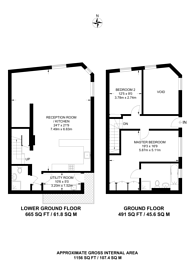 Large floorplan for Graham Street, Angel, N1