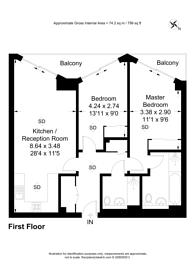 Large floorplan for Nine Elms Lane, Nine Elms, SW11