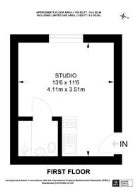 Large floorplan for Kempsford Gardens, Earls Court, SW5