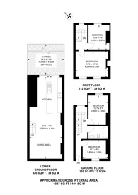 Large floorplan for Jubilee Street, Whitechapel, E1