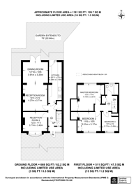 Large floorplan for Sparrow Farm Drive, Feltham, TW14