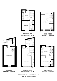 Large floorplan for Kings Cross Road, King's Cross, WC1X