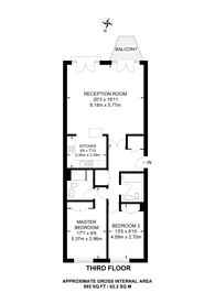 Large floorplan for Dundee Wharf, Limehouse, E14