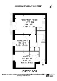 Large floorplan for Howard Court, Knaphill, GU21
