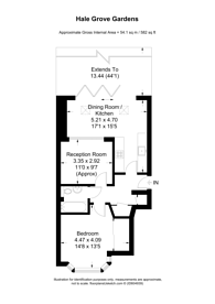 Large floorplan for Hale Grove Gardens, Mill Hill, NW7