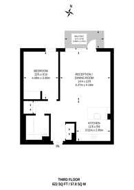 Large floorplan for Wood Lane, White City, W12