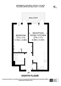 Large floorplan for Turnberry Quay, Canary Wharf, E14