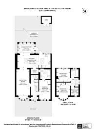 Large floorplan for Hartland Drive, Ruislip, HA4