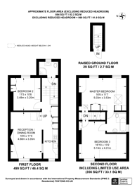 Large floorplan for Upper Maisonette, Oxford Road, Ealing, W5