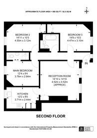 Large floorplan for Jebb Avenue, Brixton Hill, SW2