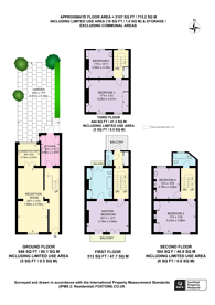 Large floorplan for Cliveden Place, Belgravia, SW1W