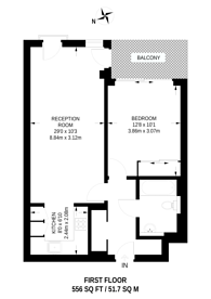 Large floorplan for Decorum Apartments (50% Share), Wenlock Road, Old Street, N1