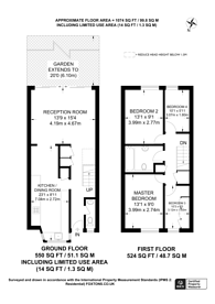 Large floorplan for Gaskell Street, Clapham North, SW4