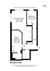 Large floorplan for Printing House Square, Martyr Road, Guildford, GU1