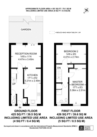 Large floorplan for Mossington Gardens, Bermondsey, SE16