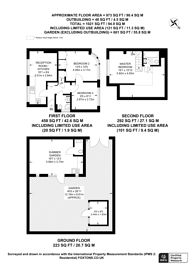 Large floorplan for Runnymede, Colliers Wood, SW19