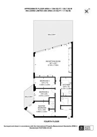 Large floorplan for Battersea Reach, Wandsworth, SW18