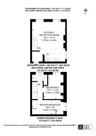 Large floorplan for Lee Terrace, Blackheath, SE3