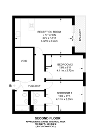 Large floorplan for Fletcher Street, Shadwell, E1