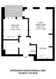 Large floorplan for Graciosa Court, Harford Street, Stepney, E1