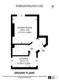 Large floorplan for Dukes Lane Chambers, Dukes Lane, Kensington, W8